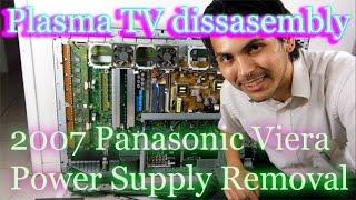 """42"""" Panasonic Plasma TV Repair: Part 1, Power Supply Removal"""