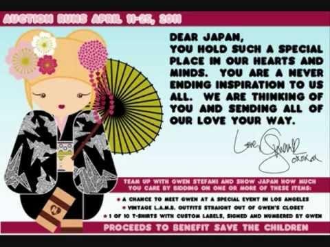 Gwen Stefani Ebay Auction & Harajuku Lovers Shirt Sale For Japan Relief!