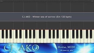 CJ AKO Winter Sea Of Sorrow Synthesia Пианино Красивая Простая Мелодия Piano Tutorial Music Easy