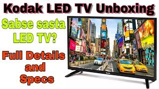 Kodak LED TV 32Inch Unboxing | Full Details and Specs | My openion