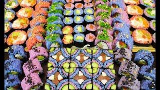 Готовлю РАЗНОЦВЕТНЫЕ РОЛЛЫ, натуральные красители! Как приготовить суши роллы дома?