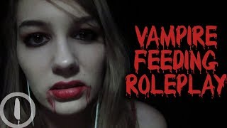 ASMR Vampire Feeding Roleplay (slurping, drinking, soft speaking & whispering) [Batsy]
