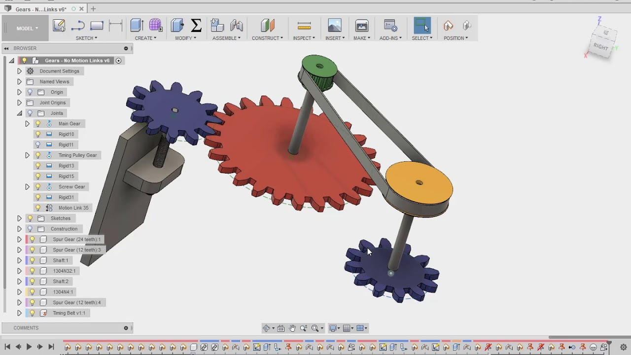 Motion Links between Joints in Autodesk Fusion 360