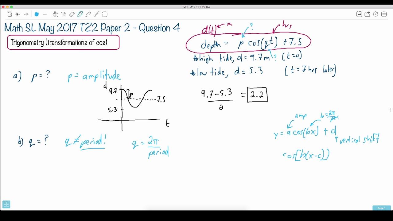 Question 4b — IB Math SL — May 2017 TZ2 Paper 2 — Past IB Exams Solutions