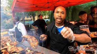 Notting Hill Carnival 2015(look At Jamaican Jerk Chicken )(caribbean Flavours )
