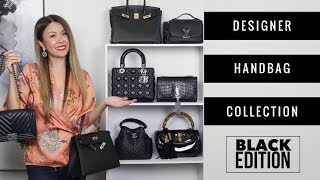 ENTIRE BLACK DESIGNER BAG COLLECTION + MOD SHOTS | Chanel, LV, Hermes, Dior, YSL | Mel in Melbourne
