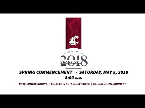WSU Spring 2018 Commencement - 8:00am