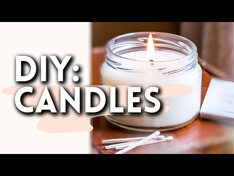 DIY Soy Wax Scented Candles - YouTube