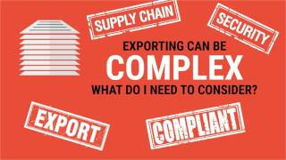 eCommerce Exports - Supply Chain Security