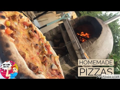 Pizza in my wood fired oven