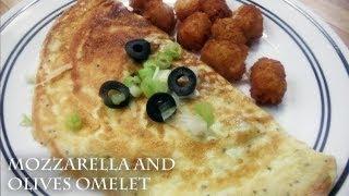 Mozzarella & Olives Omelet - Recipe