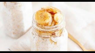 Breakfast Idea: Bananas Foster Overnight Oats
