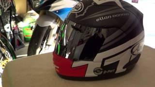 2014 arai corsair v isle of man helmet