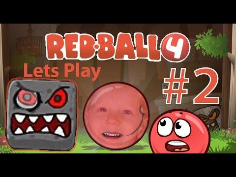 Игра Красный Шар против квадрата Red Ball 4, ОГРОМНЫЙ КВАДРАТ БОСС #2
