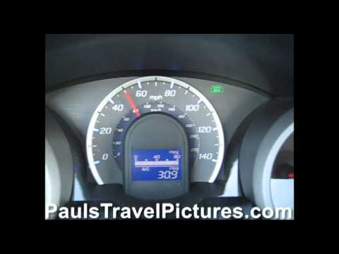 Honda Fit Jazz Instant MPG Fuel Economy Meter Coasting From 60 MPH Video.wmv