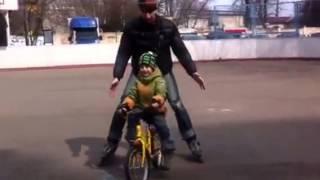 Метод обучения езде на двухколёсном велосипеде