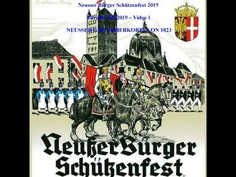 2019 0825 SFNe Parade Video 1 NEUSSER GRENADIERKORPS VON 1823
