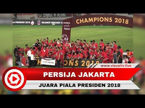 Selebrasi Kemenangan Persija Jakarta di Piala Presiden 2018