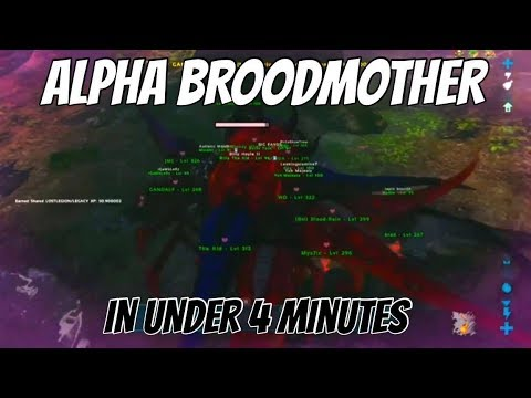 FASTEST ALPHA BROODMOTHER KILL ON CLUSTER SERVERS | XBOX ONE OFFICIAL PVP | ARK SURVIVAL EVOLVED