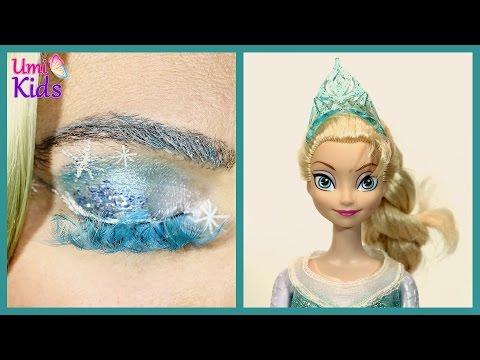 Karlar Ülkesi Frozen Kraliçe Elsa Göz Makyajı - UmiKids Makyaj Yapma Teknikleri