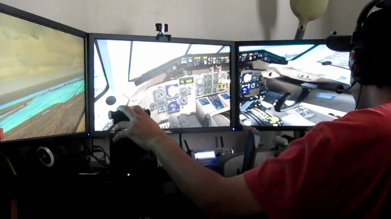 Home flight simulator set up - Home Flight Simulator Set Up 2