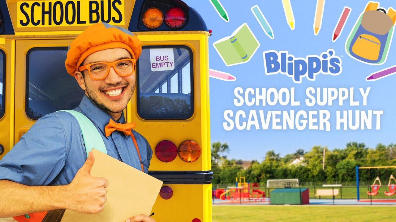 Download Blippi Back To School Movie - School Supply Scavenger Hunt For Kids