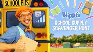 Blippi Back To School Movie - School Supply Scavenger Hunt For Kids