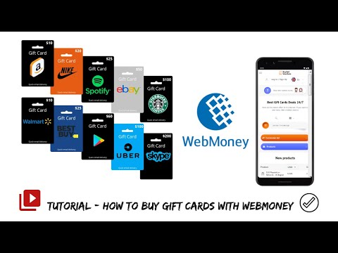 Webmoney Wallet: How To Buy Gift Cards With WMZ And WMR