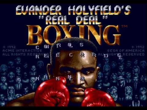 """Evander Holyfield's """"Real Deal"""" Boxing (Mega Drive/ Sega Genesis) full playthrough"""