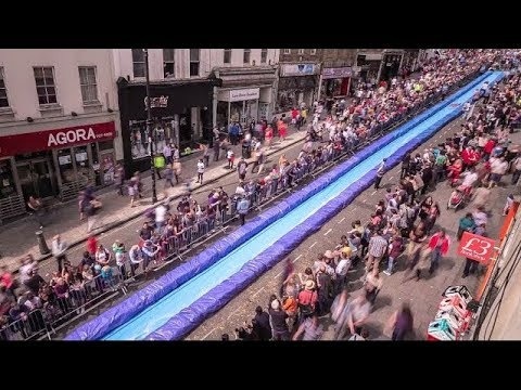 Park and Slide Bristol [OFFICIAL VIDEO] Giant Water slide HD