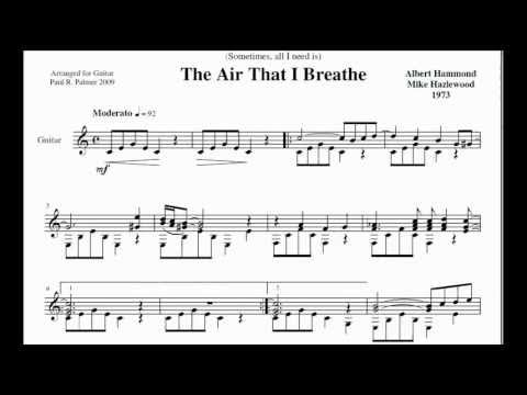 The Air That I Breathe Paul Palmer Guitar Youtube
