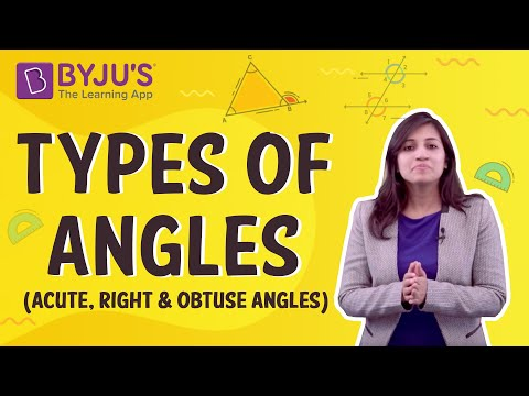 Class 4 & 5- Types of Angles (Acute, Right and Obtuse Angles)