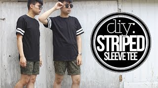 DIY: Striped Sleeve Tee Thumbnail