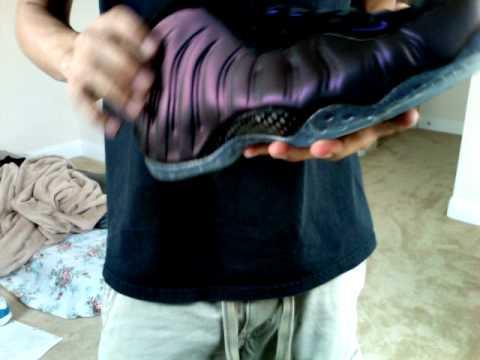 47d9ab019b7 Eggplant Foamposite 2010!!! - YouTube