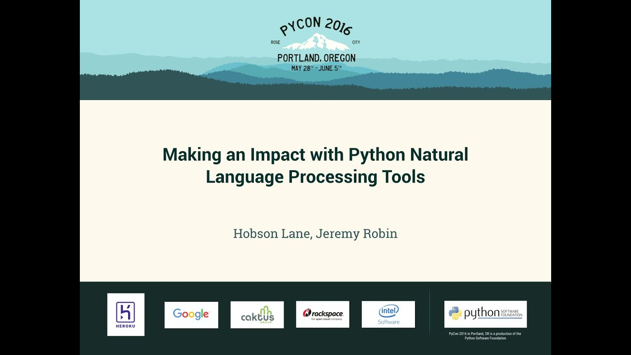 Image from Making an Impact with Python Natural Language Processing Tools