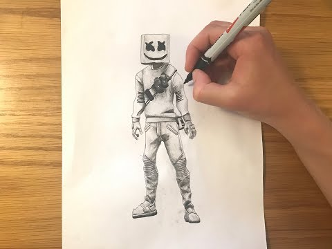 Download How To Draw Marshmello Easy Fortnite Season 7 Drawing
