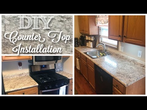 DIY NEW Kitchen Counter Tops!