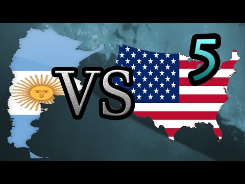 Argentina vs USA [5] Hearts of Iron IV HOI4
