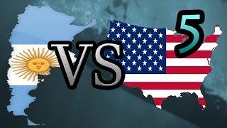 Argentina vs USA [5] Hearts of Iron IV HOI4
