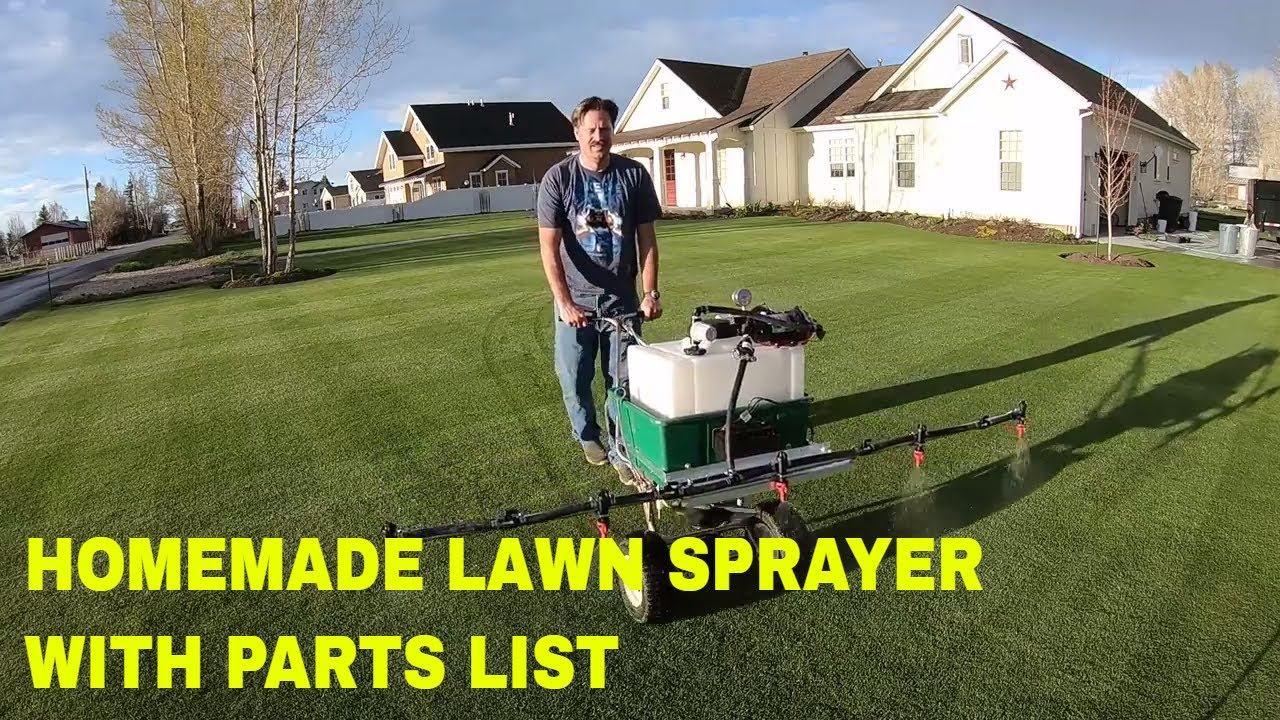 How to build a HOMEMADE LAWN SPRAYER  5 nozzle boom