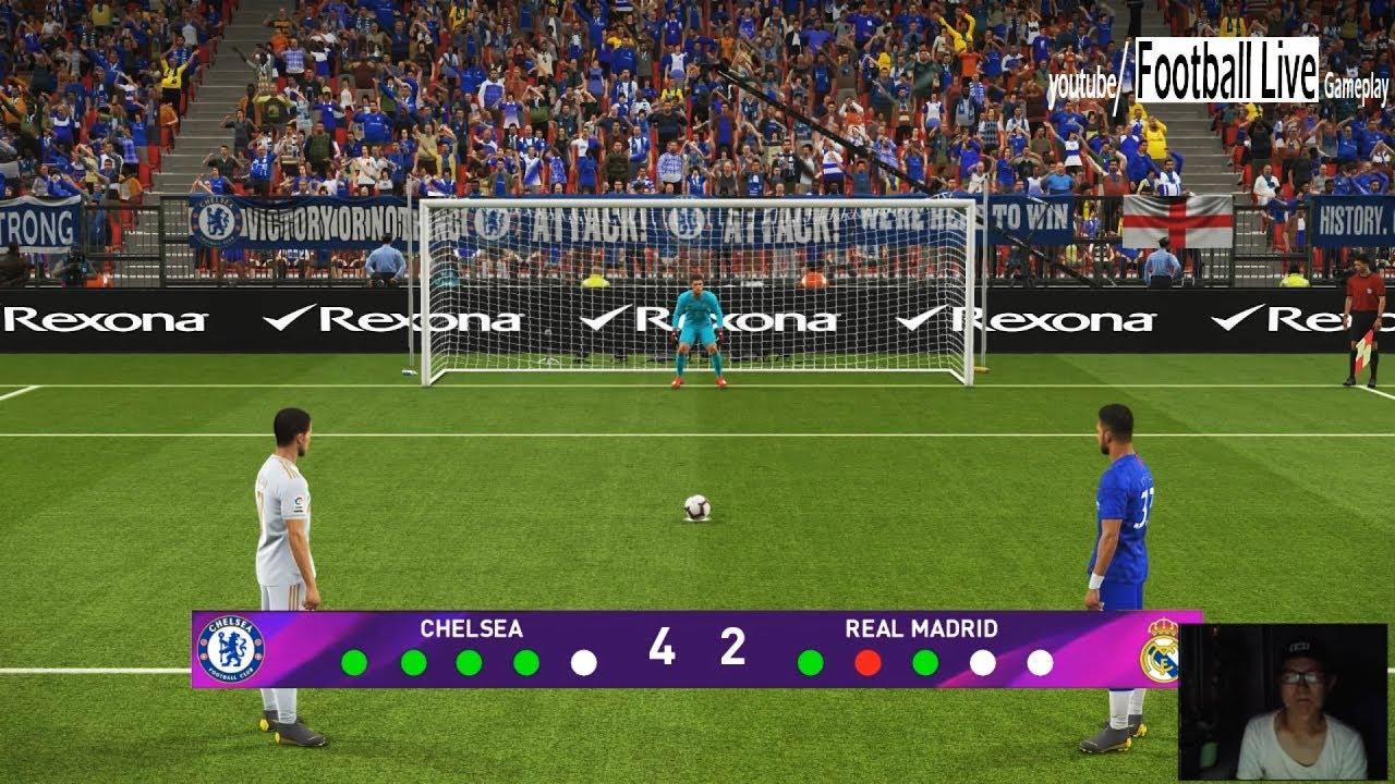 PES 2019   Penalty Shootout   Chelsea vs Real Madrid - YouTube