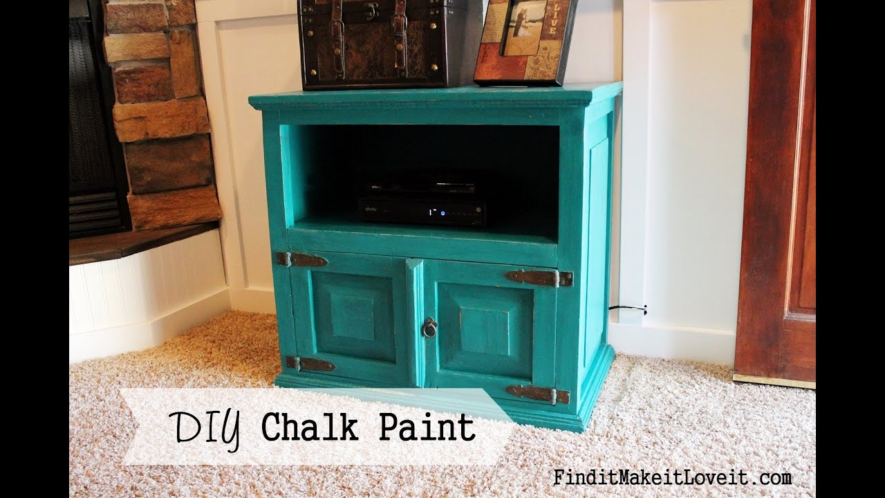 How to paint with DIY chalk paint - YouTube