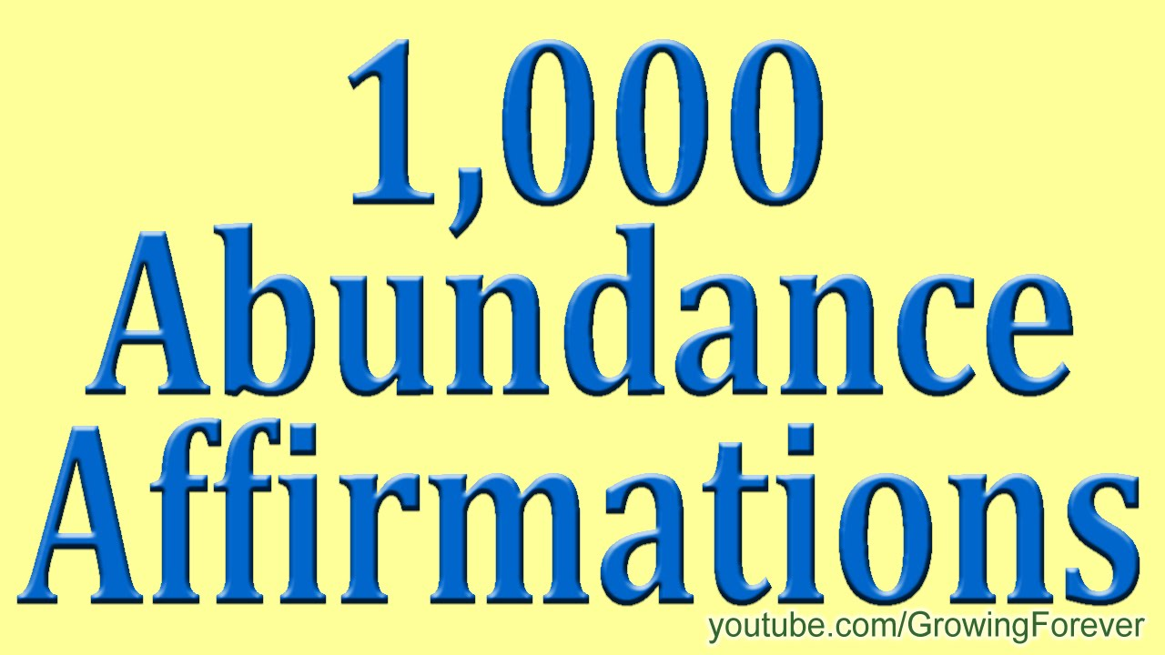 1,000 ★POWERFUL★ Abundance Affirmations & Images - Wealth Money Prosperity Cash Law of ...