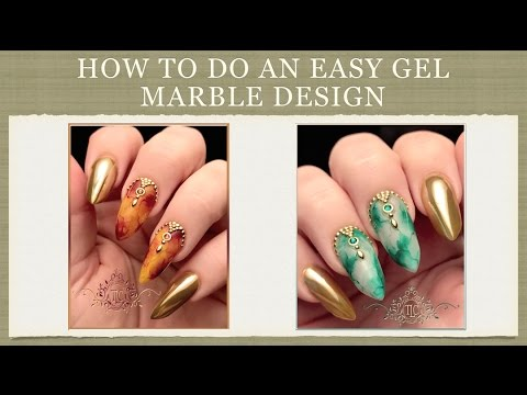 How to do an Easy Gel Marble Design