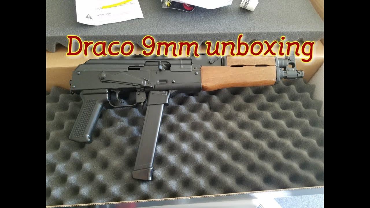 Draco NAK9 9mm AK-47 unboxing