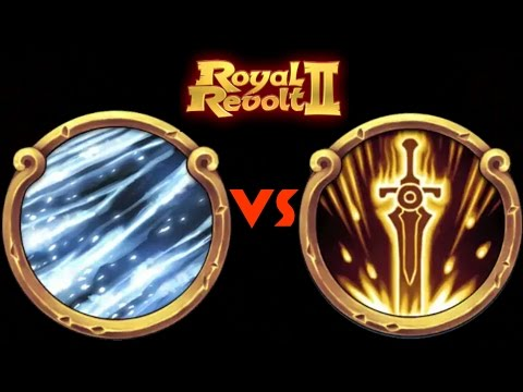 ROYAL REVOLT 2 - BLIZZARD Vs SWORDRAIN (spells Test)