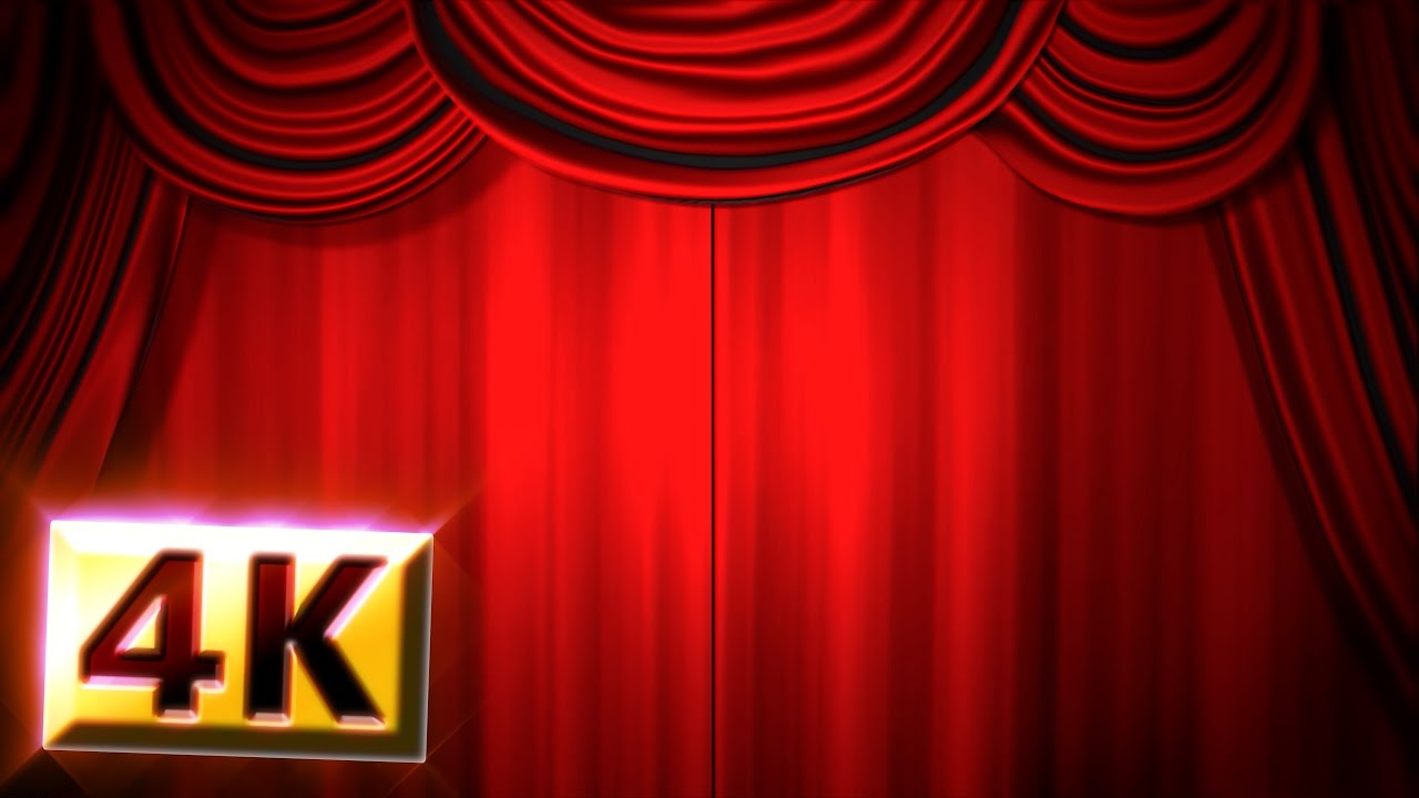 Stage curtains animation -  Royalty Free Footage 4k Red Stage Curtain Drapes Animation Drop Curtain Theatre