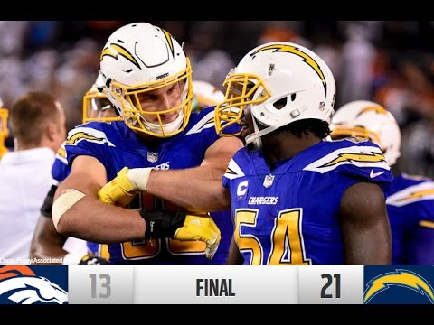 Philip Rivers Surpasses Dan Fouts As Chargers Beat Broncos | NFL W6 TNF 2016