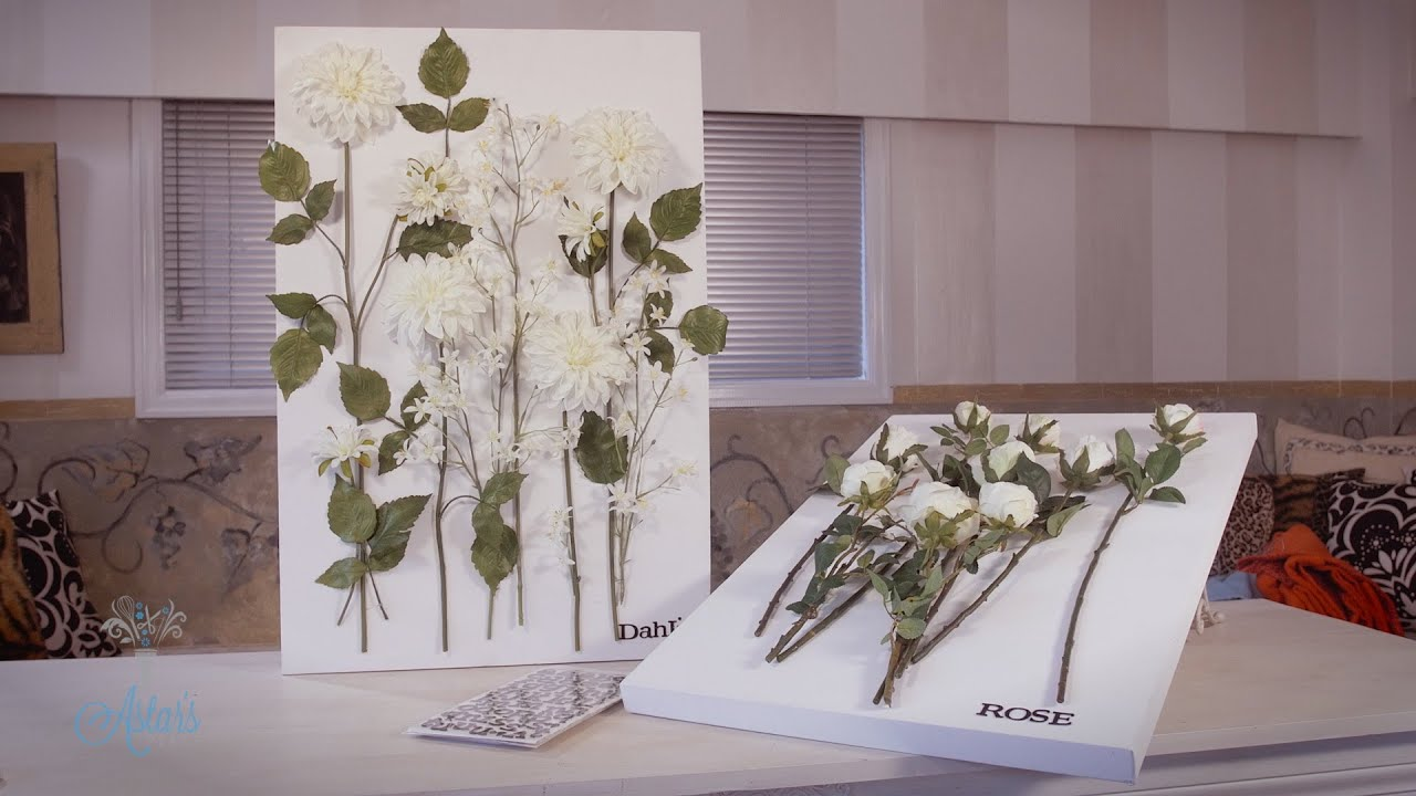 Mounting Flowers On A Canvas Arts Crafts Tutorial Youtube
