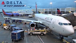 Beautiful approach over NYC Manhattan, Delta Boeing 737, Seattle — New York JFK [FULL FLIGHT REPORT]